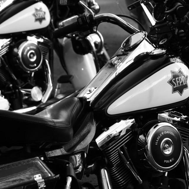 """""""SF Police Motorbikes"""" stock image"""