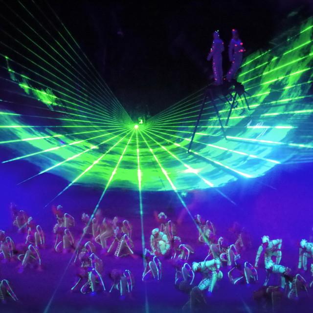 """Fantastic Acrobat Show"" stock image"