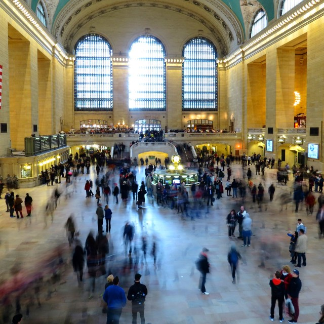 """Grand Central Station Busy"" stock image"