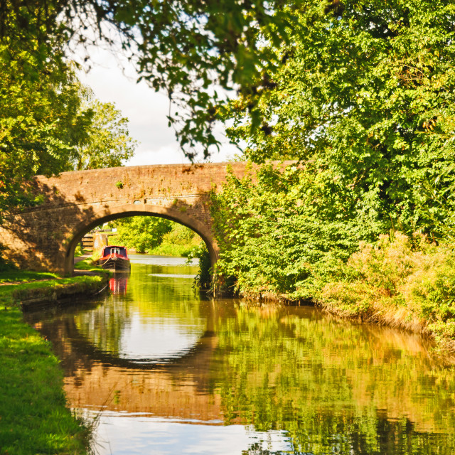 """UK - The Grand Union Canal"" stock image"