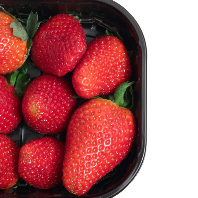 """""""Pack of strawberries for sale"""" stock image"""