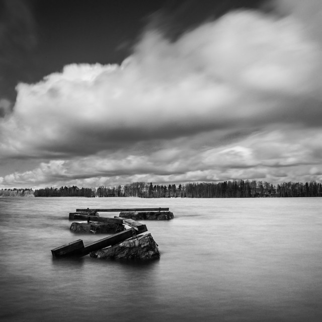 """Remains of a pier"" stock image"