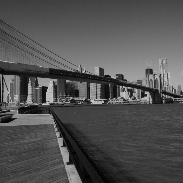 """East River, New York"" stock image"