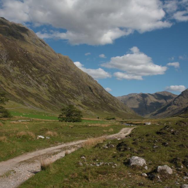 """""""Scottish mountain track"""" stock image"""