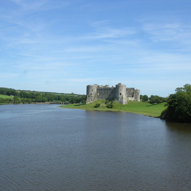 """Carew Castle"" stock image"