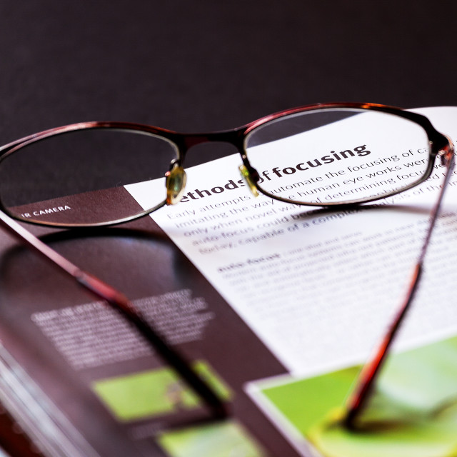 """Glasses to Focus with"" stock image"