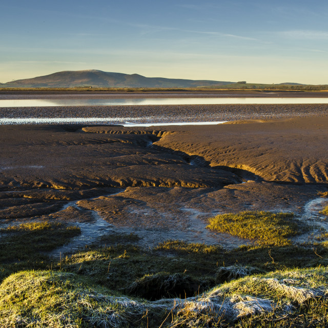 """Solway Firth and Criffel"" stock image"