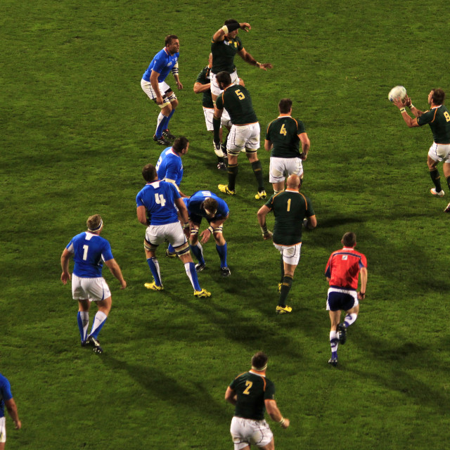 """Rugby World Cup 2011 South Africa versus Namibia"" stock image"
