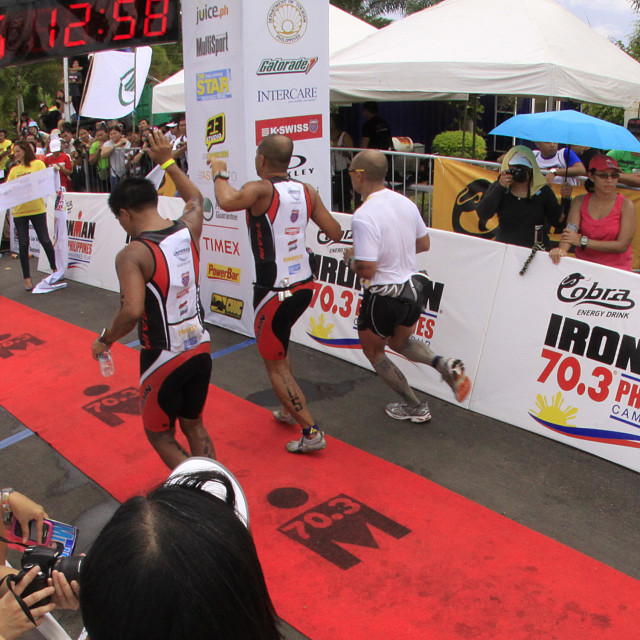 """Ironman Philippines marathon run race finish"" stock image"