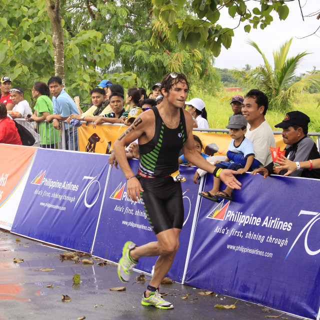 """Ironman Philippines winner Jesse Thomas"" stock image"
