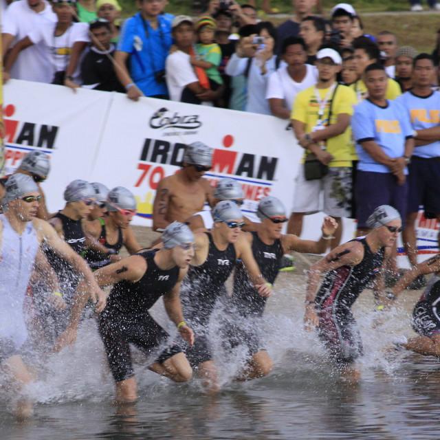 """Ironman Philippines swimming race start"" stock image"