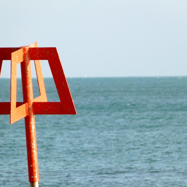 """Beach Sign Post"" stock image"