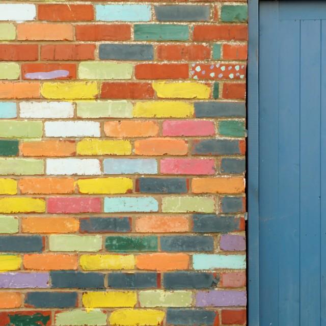 """Bright wall"" stock image"