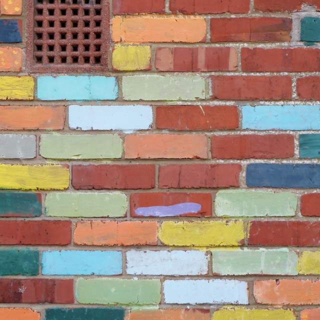 """""""Vent in Bright Wall"""" stock image"""