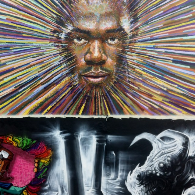 """Graffiti in Brick Lane, London"" stock image"