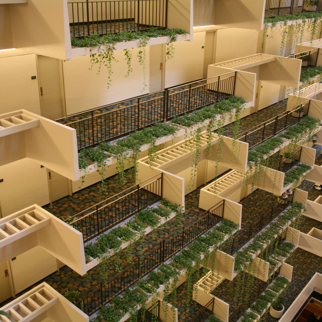 """""""Indoor Balcony Gardens"""" stock image"""