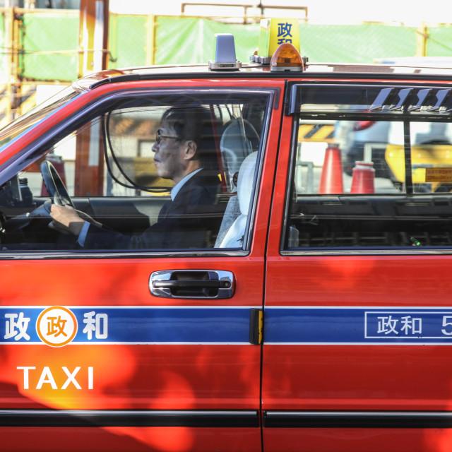 """Tokyo Taxi Ride"" stock image"