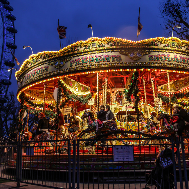 """South Bank Carousel"" stock image"