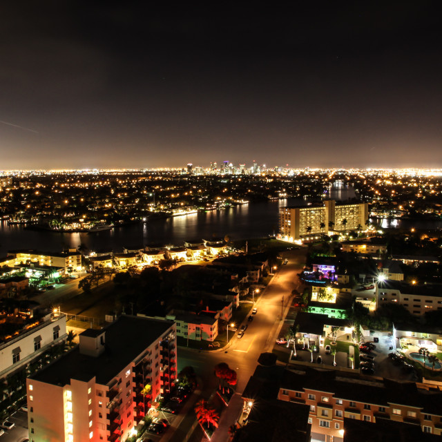 """Fort Lauderdale at Night"" stock image"