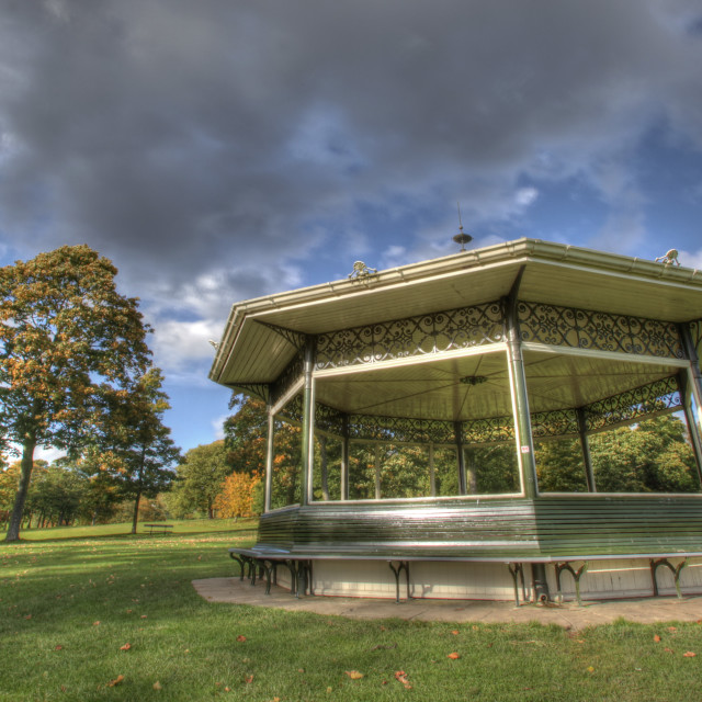"""""""The Bandstand"""" stock image"""