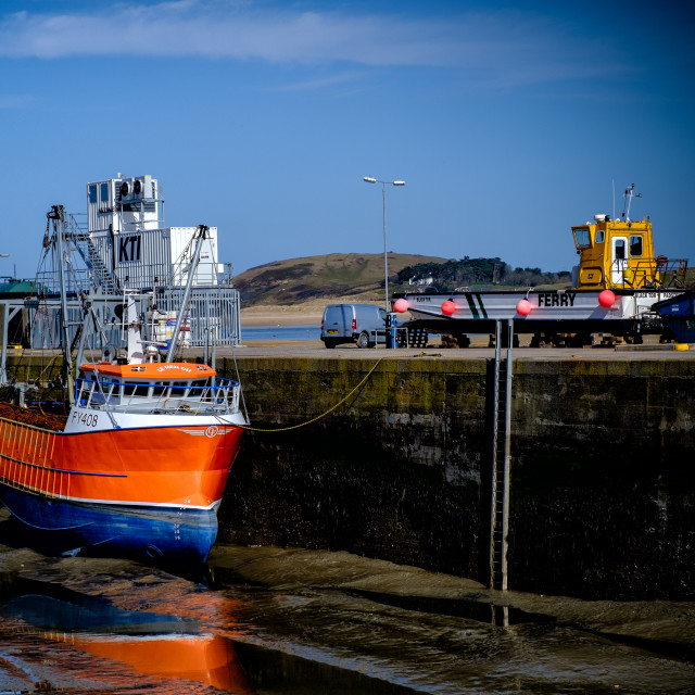 """Trawler in Padstow"" stock image"