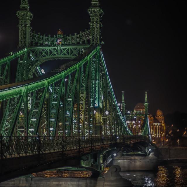 """Liberty Bridge and Spa"" stock image"