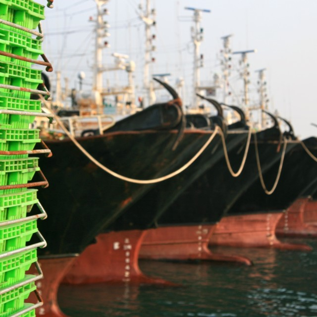 """Busan Harbor Fishing Ships"" stock image"