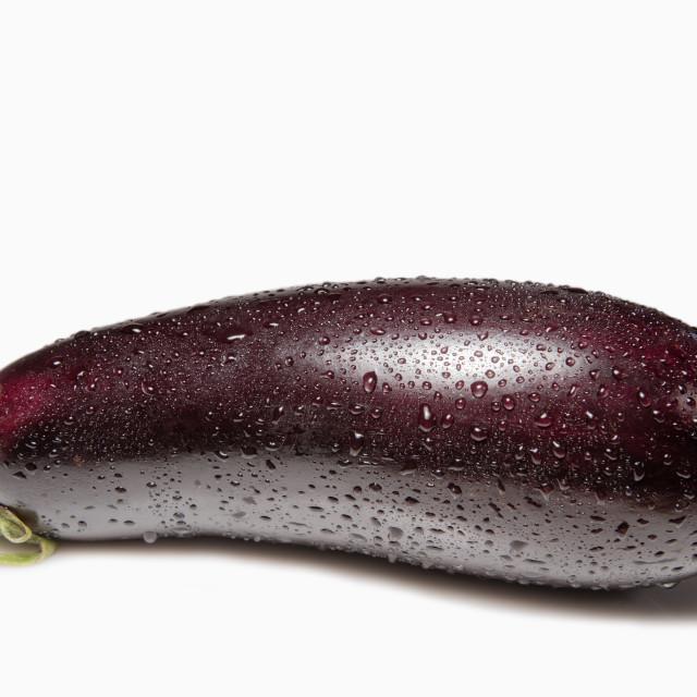 """Eggplant isolated"" stock image"