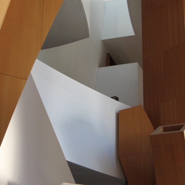 """Staircase Walt Disney Concert Hall"" stock image"