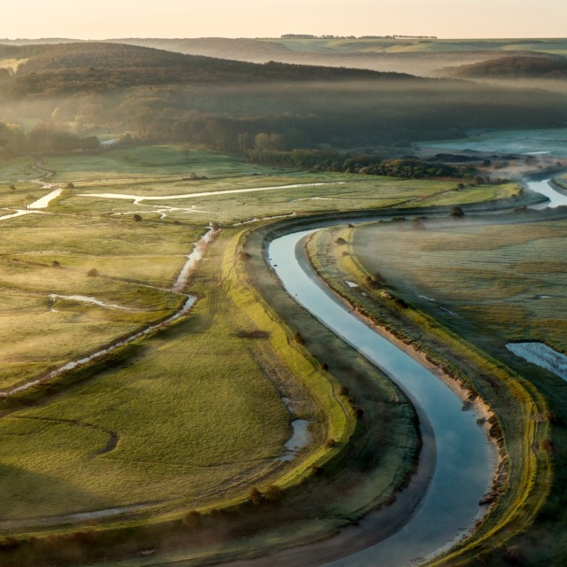 """Cuckmere Valley"" stock image"