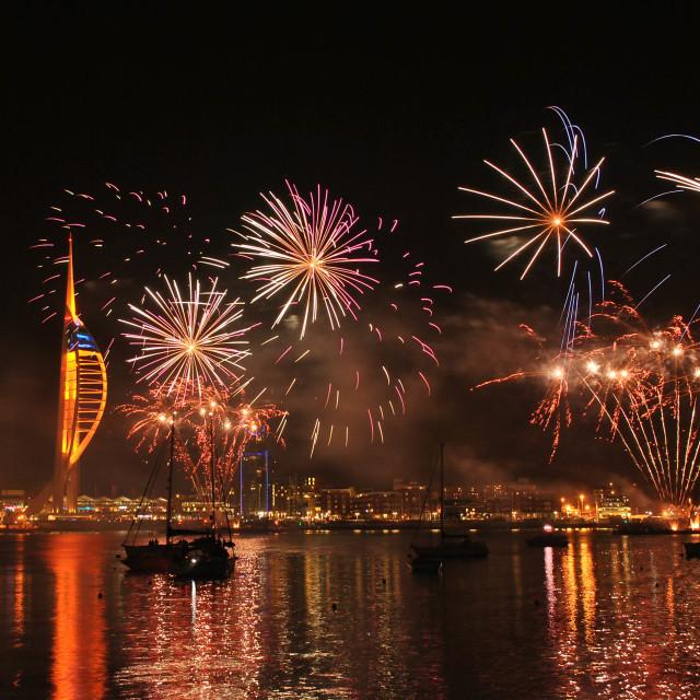 """Gunwharf Fireworks"" stock image"
