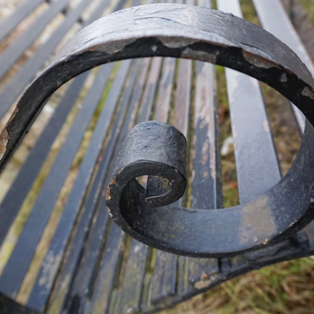 """Metal Bench"" stock image"