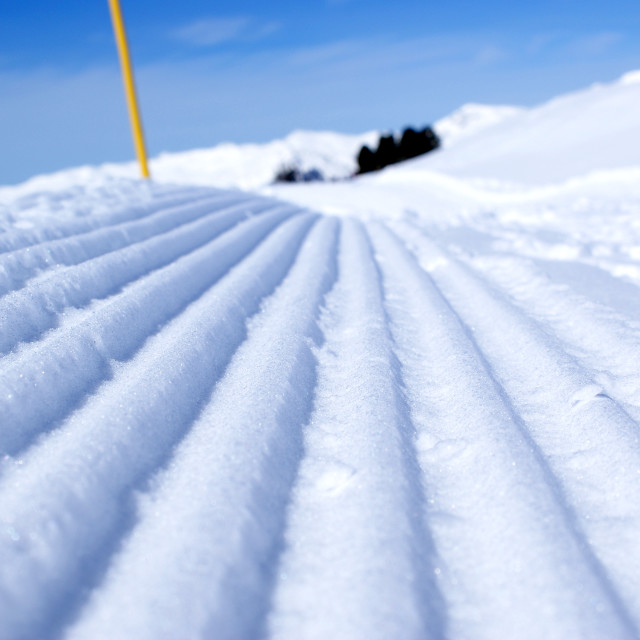 """Snow ridges"" stock image"