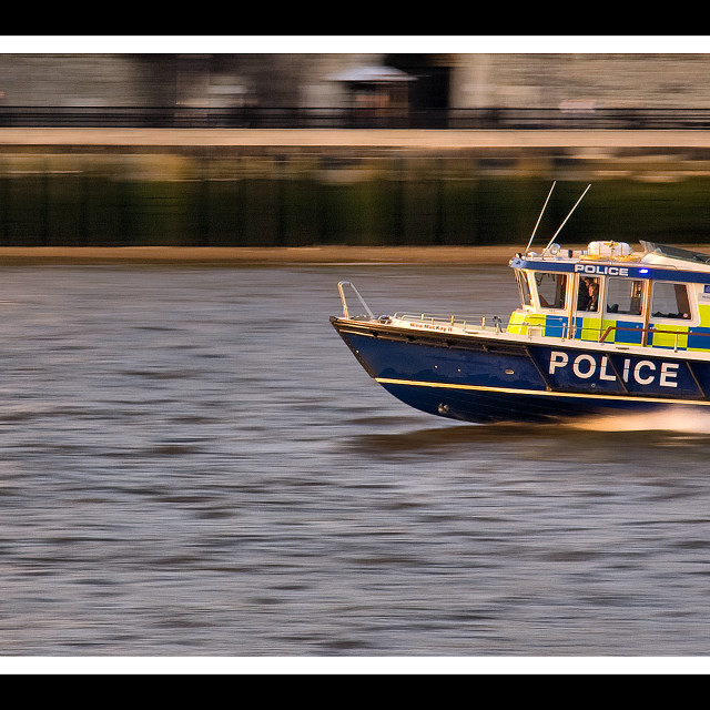"""Thames Police Boat"" stock image"