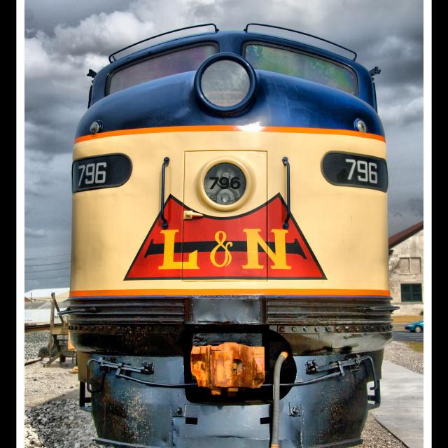 """L&N 796 at Bowling Green Depot, Kentucky"" stock image"