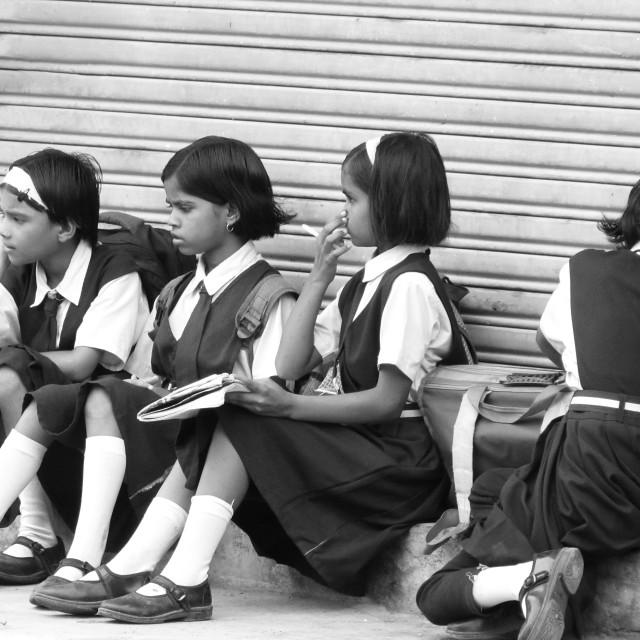 """""""Indian school kids."""" stock image"""