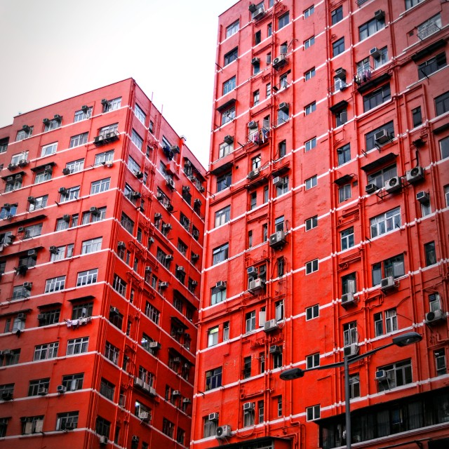 """Red Building in Hong Kong"" stock image"