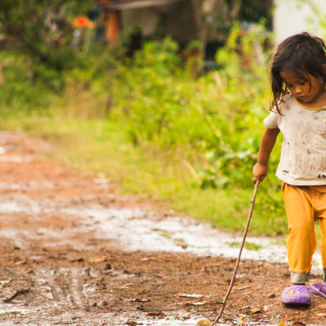 """Cambodian Girl"" stock image"