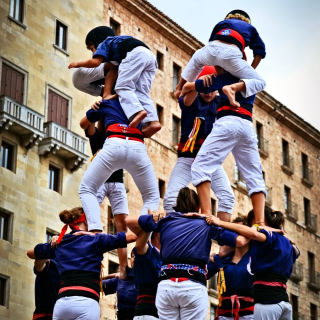 """Castellers Montserrat"" stock image"