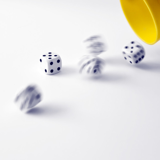 """Going for Yahtzee"" stock image"
