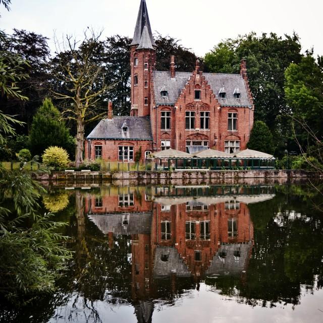 """""""Castle in Bruges"""" stock image"""