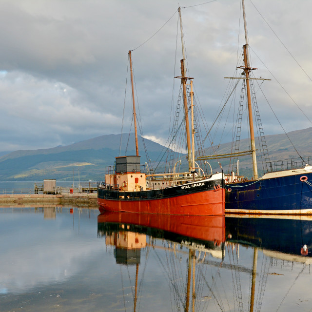 """Inveraray Harbour"" stock image"