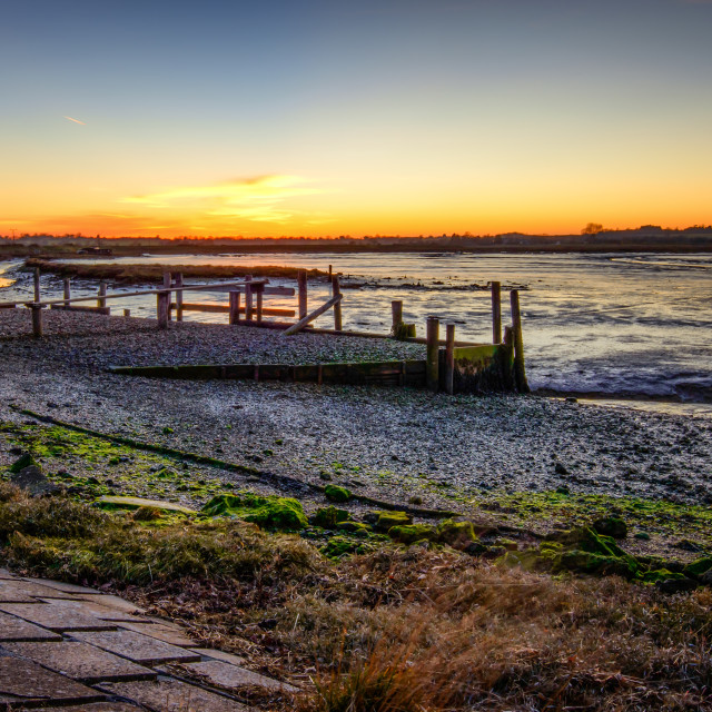 """""""Landermere Quay at Low Tide"""" stock image"""