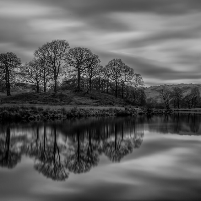 """Elterwater Reflections"" stock image"