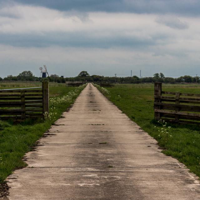 """Norfolk Farm Road"" stock image"