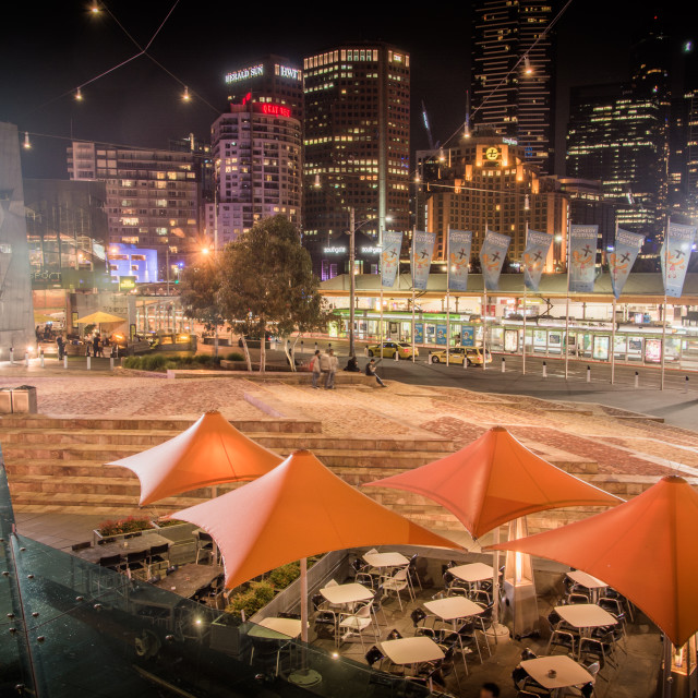 """Comedy Festival - Federation Square, Melbourne"" stock image"