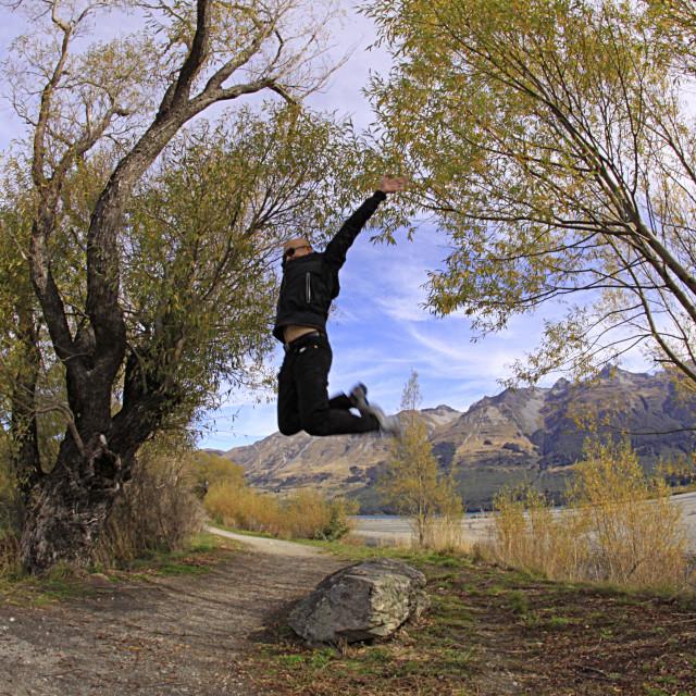 """Jumping jack flash Glenorchy"" stock image"