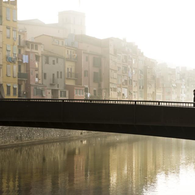 """Onyar river in Girona"" stock image"