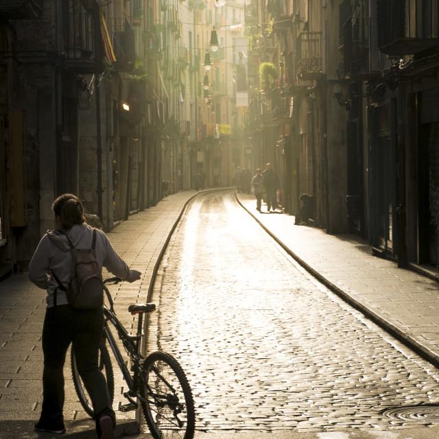 """Medieval city of Girona"" stock image"