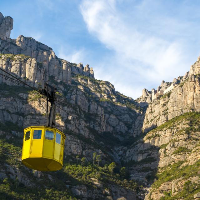 """Mountain of Montserrat in Catalonia"" stock image"